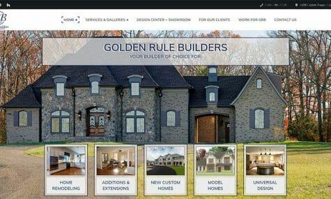 Golden Rule Builders - Website design, development, build, maintenance, and hosting by Talk19 Media & Marketing company in Warrenton, Fauquier County, Northern Virginia