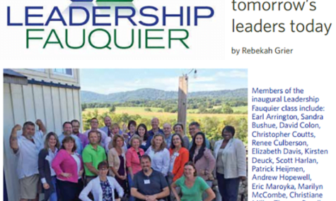 Leadership Fauquier article - featured on Talk19 Media website - A Quality Media & Marketing company; Affordable for Small Business.