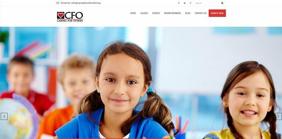 Caring For Others (CFO) - Website design, development, build, maintenance, and hosting by Talk19 Media & Marketing company in Warrenton, Fauquier County, Northern Virginia