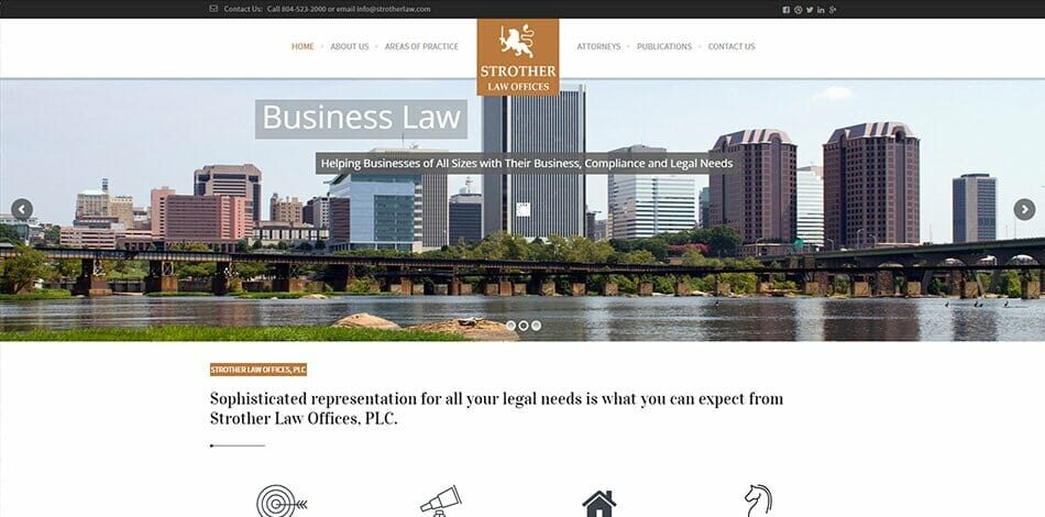 Strother Law - Website design, development, build, maintenance, and hosting by Talk19 Media & Marketing company in Warrenton, Fauquier County, Northern Virginia