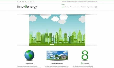 innov8energy - Website design, development, build, maintenance, and hosting by Talk19 Media & Marketing company in Warrenton, Fauquier County, Northern Virginia