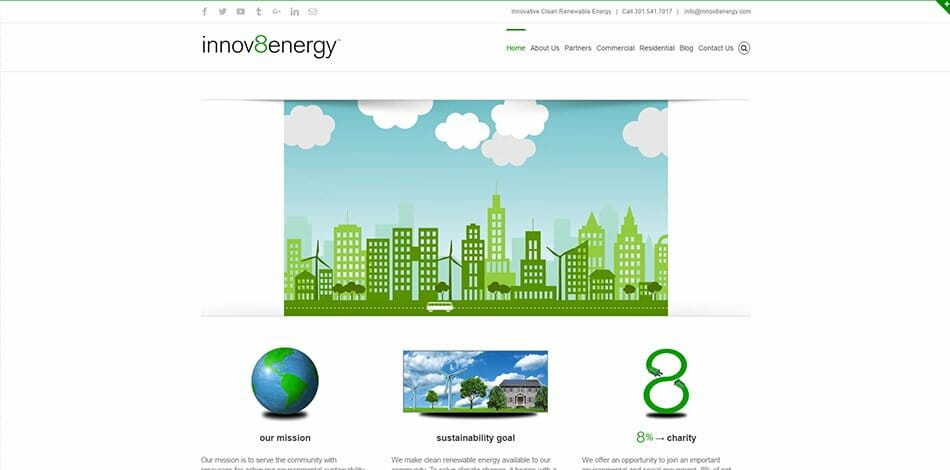 innov8energy - Website design, development, build, maintenance, and hosting by Talk19 Media & Marketing company in Warrenton, Fauquier County, Northern Virginia