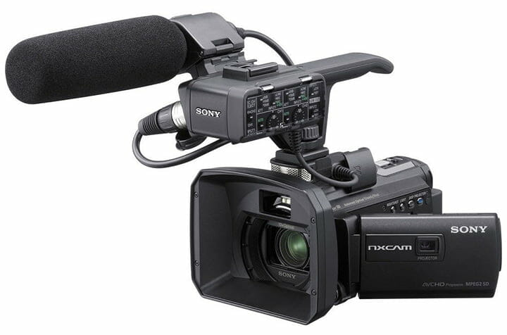 audio and video production Sony HXR-NX30