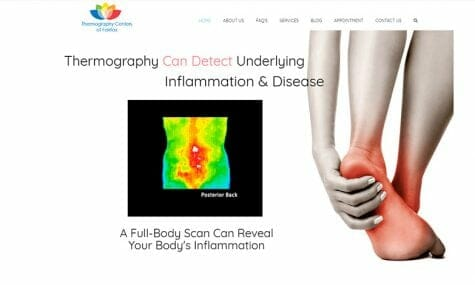 Thermography Centers of Fairfax Website Developed by Talk19 Media Marketing