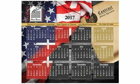 Marlin Ventures, Inc. 2017 Mousepad Calendar graphic design by Talk19 Media Marketing