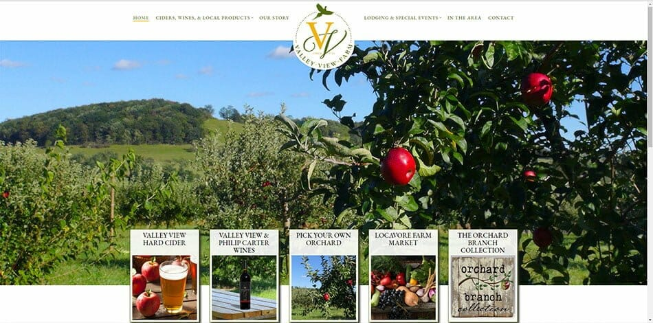 Valley View Farm Delaplane Fauquier Virginia orchard market cider wine crafts organic garden