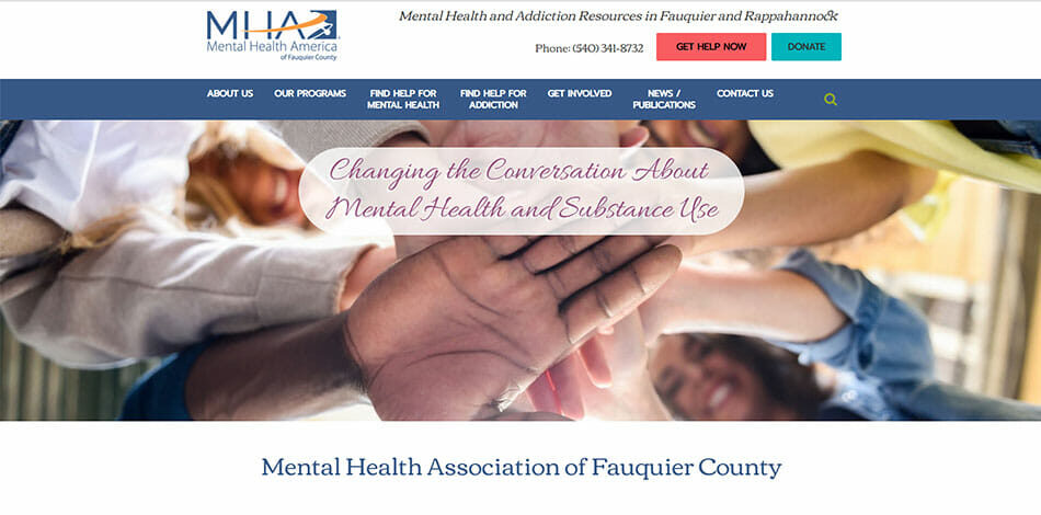 Mental Health Association of Fauquier County, Mental Health and Addiction Resources, Website Developed by Talk19 Media Marketing
