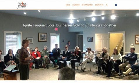 Ignite Fauquier - local business support group - Website Developed by Talk19 Media Marketing
