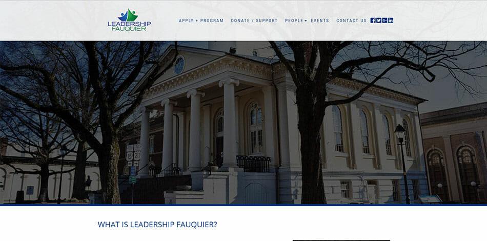 Leadership Fauquier - Website Developed by Talk19 Media Marketing