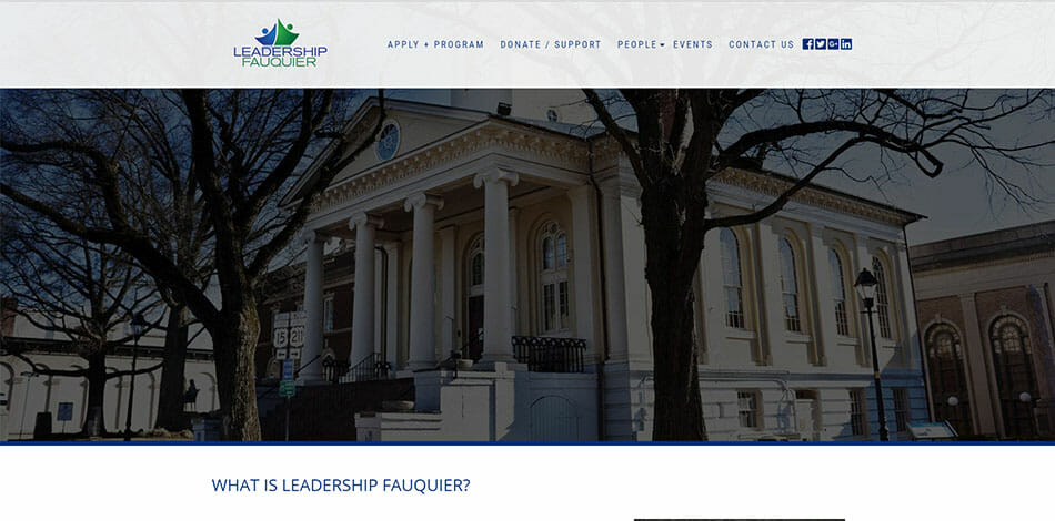 Leadership Fauquier - Website Developed by Talk19 Media Marketing