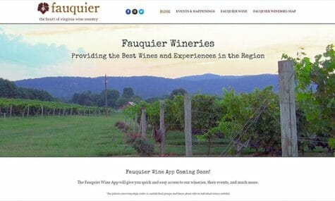 Fauquier Wineries, Providing the Best Wines and Experiences in the Region, Website Developed by Talk19 Media Marketing