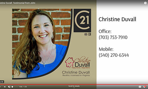 Audio & Video Production, Talk19Media, Christine Duvall: Testimonial from John, Realtor with Century 21 New Millennium