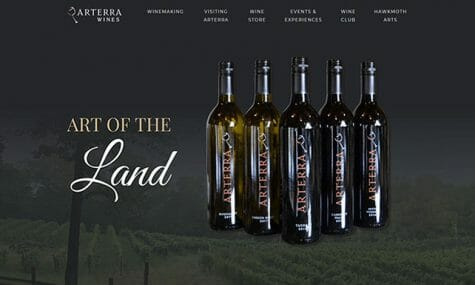 Arterra Wines, Quality wine, wine gifts, and wine experiences in Fauquier County, Virginia, Website Developed by Talk19 Media Marketing