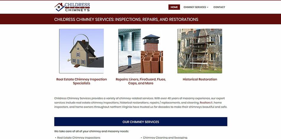 Childress Chimneys, Inspections, Repairs, Restorations Website Developed by Talk19 Media Marketing