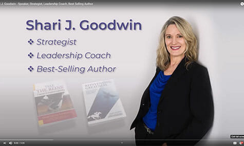 Shari J. Goodwin Speaker, Strategist, Leadership Coach, Best Selling Author, Video recording, editing, and production by Talk19 Media Marketing