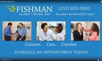 Fishman Allergy Asthma ENT video recording, editing, and production by Talk19 Media Marketing