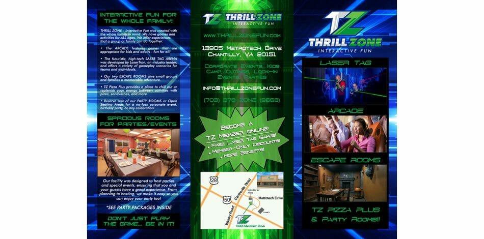 THRILL ZONE Interactive Fun Brochure