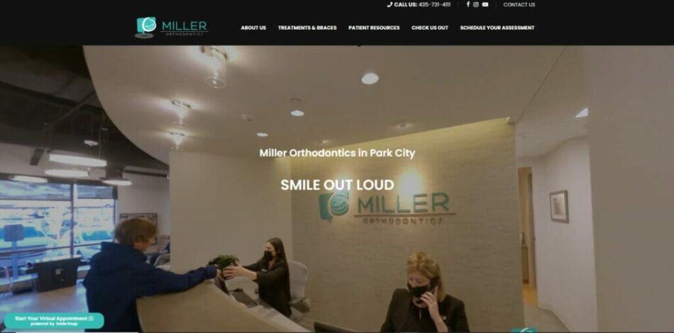 Miller Orthodontics - Website design, development, build, maintenance, and hosting by Talk19 Media & Marketing company in Warrenton, Fauquier County, Northern Virginia